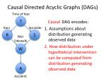 causal directed acyclic graphs dags