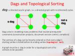 dags and topological sorting