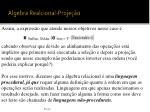 algebra realcional proje o6