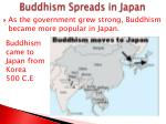 buddhism spreads in japan