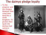 the daimyo pledge loyalty