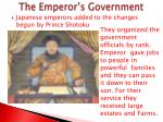 the emperor s government