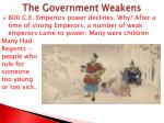 the government weakens1