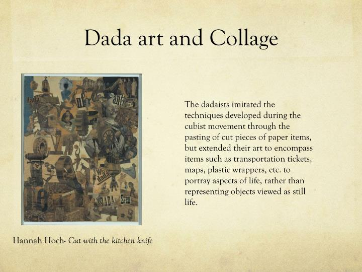Dada art and collage