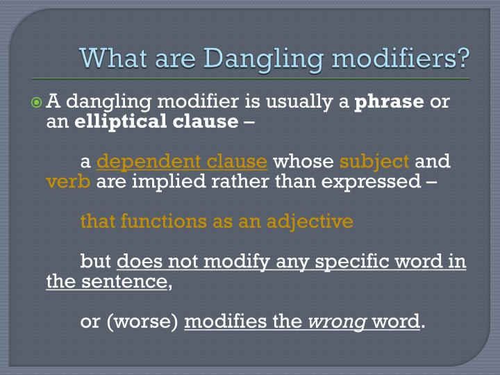 Misplaced modifiers examples ppt to pdf