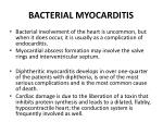 bacterial myocarditis