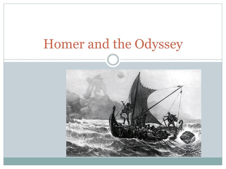 homer and the odyssey n.