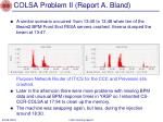 colsa problem ii report a bland