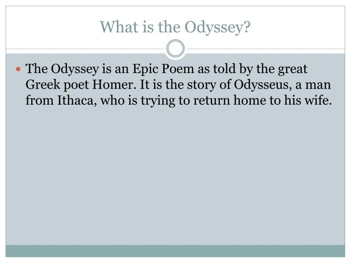 homers use of parataxis in his epic poem odyssey Thalmann (1984), by stressing the generic affinities between the various types of hexameter poetry written during the archaic greek period (the eighth to the sixth centuries bc), indicates that it is misleading to distinguish too firmly between the didactic poetry of hesiod and, for example, the heroic epic of homer.