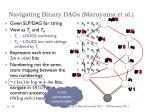 navigating binary dags maruyama et al