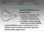 causal faithfulness assumption1