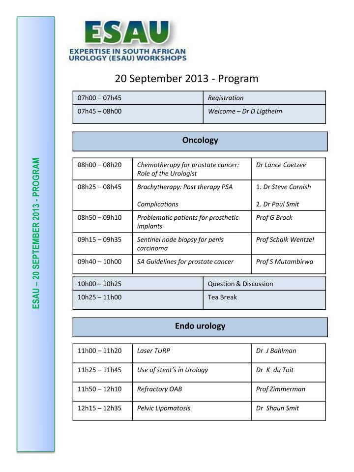 esau 20 september 2013 program n.