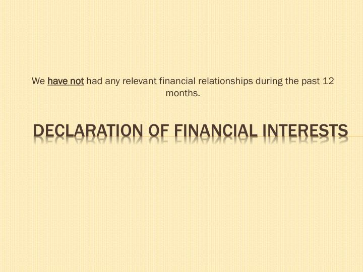 declaration of financial interests n.