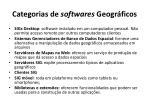 categorias de softwares geogr ficos