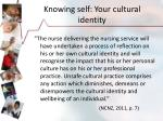 knowing self your cultural identity