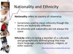 nationality and ethnicity