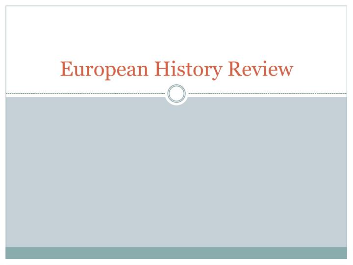 european history review n.