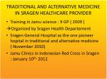 traditional and alternative medicine in sragen healthcare provider