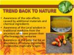 trend back to nature