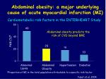 abdominal obesity a major underlying cause of acute myocardial infarction mi