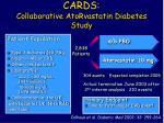 cards collaborative atorvastatin diabetes study
