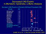 increased cad events in metabolic syndrome a meta analysis