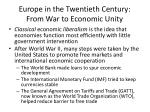 europe in the twentieth century from war to economic unity