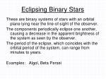 eclipsing binary stars