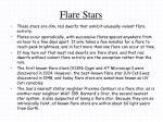 flare stars