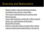 diversity and nationalism