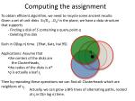 computing the assignment1