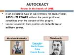 autocracy power in the hands of one