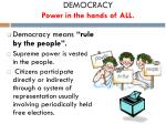 democracy power in the hands of all