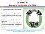 oligarchy power in the hands of a few