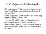 d raft dejean roll selective dis