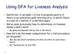 using dfa for liveness analysis