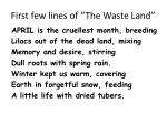 first few lines of the waste land