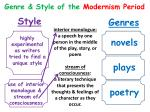 genre style of the modernism period