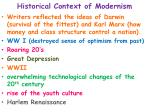 historical context of modernism