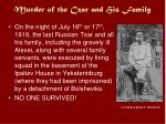 murder of the czar and his family