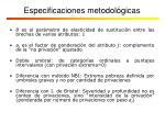 especificaciones metodol gicas