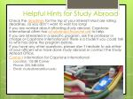helpful hints for study abroad