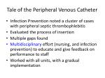 tale of the peripheral venous catheter