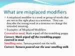 what are misplaced modifiers