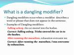 what is a dangling modifier