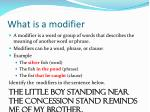 what is a modifier