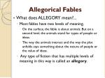 allegorical fables