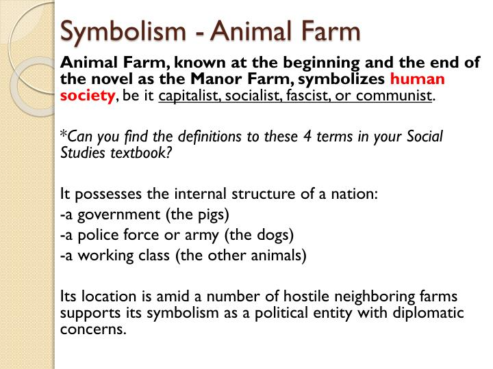 Animal Farm Symbols - PPT - Animal Farm PowerPoint
