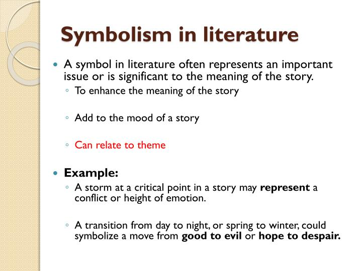 journey symbolism in literature Symbolism in literature symbol symbol, sign representing something that has an independent existence the most important use of symbols is in language to say so, however, does not solve the perennial philosophical questions as to the nature of the linguistic sign.