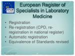 european register of specialists in laboratory medicine3